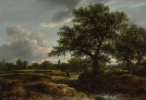 Якоб Исаакс ван Рейсдал. Пейзаж с деревней вдали
