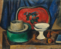 Still life. Tray and green box