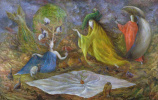Leonora Carrington. Swinging from the depths (Earth protector)