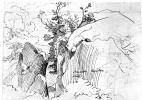 Фридрих Нерли. Тропинка в скалах близ Олевано