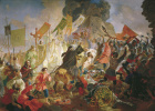Карл Павлович Брюллов. Осада Пскова польским королём Стефаном Баторием в 1581 году