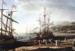 Клод Лоррен. Лодка с троянцами