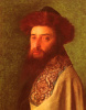 Young Rabbi with blue Tallis