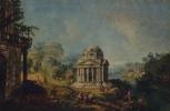 Микеле Мариески. Пейзаж с храмом