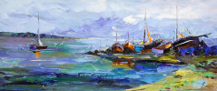 """Fishing Boats on the Shore"""