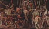 Паоло Уччелло. Три картины о битве при Романо для дворца Медичи во Флоренции. Вступление в бой Микелетто да Котиньолы