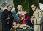 Северной Итальянский. Мадонна с младенцем и святыми