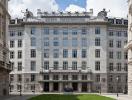 Фасад австрийский Почтовый Сберегательный банк (австрийский почтовый Сберегательный банк)