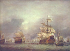 The capture of the ship during the four days sea battle 1666