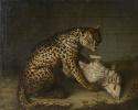 Леопард с ягненком