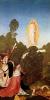 Алтарь св. Леопольда, боковая створка: Нахождение покрова