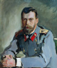 Portrait of Emperor Nicholas II (the Portrait of Nicholas II in the gray jacket)