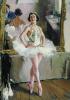 Portrait of the ballet dancer Olga Lepeshinskaya