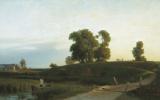 Лев Феликсович Лагорио. Вид на Лахту в окрестностях Петербурга. 1850
