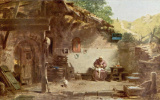 Карл Шпицвег. Старый монах перед кельей