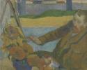 Portrait of Vincent van Gogh painting sunflowers