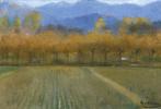 Рамон Касас Карбо. Осенний пейзаж, окрестности монастыря Сант-Бенет-де-Багес
