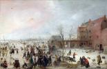 Хендрик Аверкамп. Сцена на льду рядом с городом