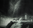 """The storm over the Irtysh"" mezzotint"