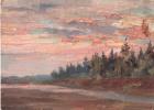 Arkady Pavlovich Laptev. Sunset over the forest