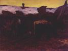 В коллективных конюшнях фермы