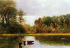 Альберт Бирштадт. Пейзаж с коровами