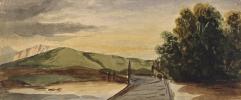 Giovanni Giacometti. Landscape with bridge