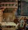 The cycle of frescoes of the life of St. Francis of Assisi. The death of knight of Celano