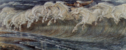 Walter Crane. The Horses Of Neptune