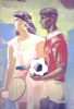 A fragment of the sports murals
