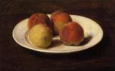 Анри Фантен-Латур. Натюрморт с четырьмя персиками