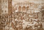 Джорджо Вазари. Шествие папы Льва Х через площадь Синьорини во Флоренции