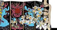"""Screen. """"Thirteen Orchids for the Empress"""""""