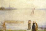 Джеймс Эббот Макнейл Уистлер. Залив Баттерси, видный из домов Линдси