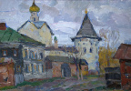 Boris Petrovich Zakharov. Rostov October. Etude.