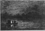 Шарль-Франсуа Добиньи. Серия Альбом путешествия в лодке, Ночное путешествие, или Ловля рыбы сетями, второе состояние