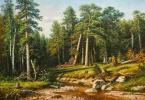 Савелий Камский. Копия картины Ивана Шишкина «Сосновый бор. Мачтовый лес в Вятской губернии»
