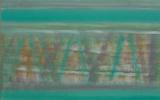 Arrangement in turquoise