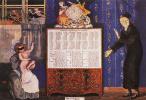 Константин Андреевич Сомов. Новый и старый год. Обложка табель-календаря на 1905 год