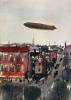 The airship above the city