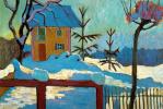 Габриель Мюнтер. Дом в лучах зимнего солнца