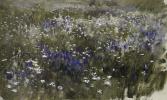 Isaac Levitan. Flowering meadow