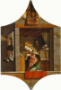 The Annunciation. Altar triptych, right top