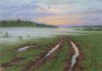 Sergey Alekseevich Makarov. Country road in fog