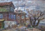 Борис Петрович Захаров. Весна на оз. Неро. Этюд.