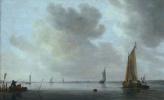 Ян ван Гойен. Рыбацкие лодки в устье реки