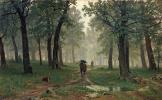 Ivan Ivanovich Shishkin. Rain in an oak forest
