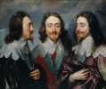Triple portrait of Charles I, king of England