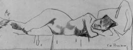 Лежащая обнаженная