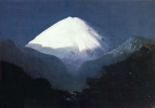 Elbrus. Moonlit night